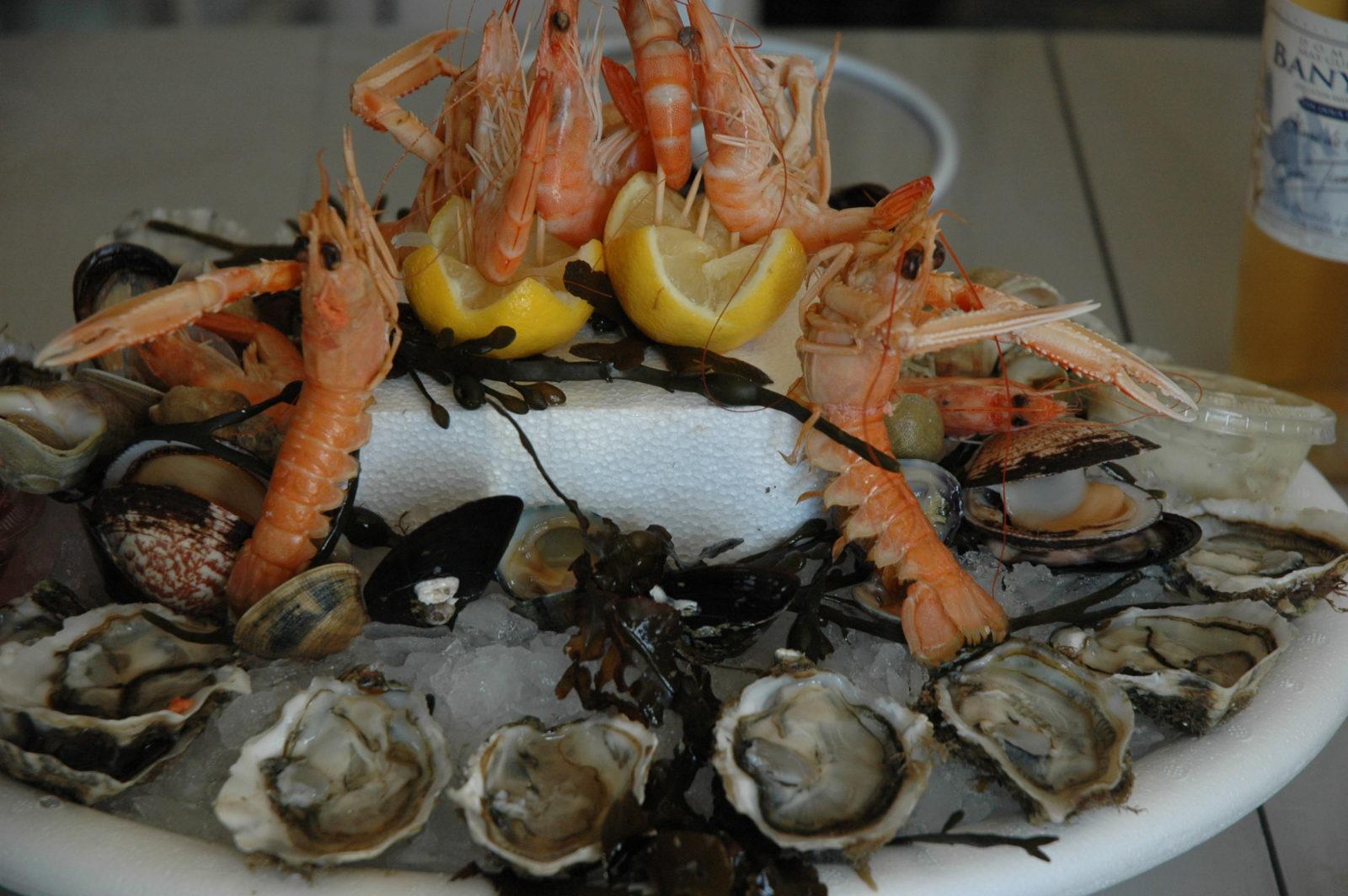 Chambre d'hôte - déguster des fruits de mer