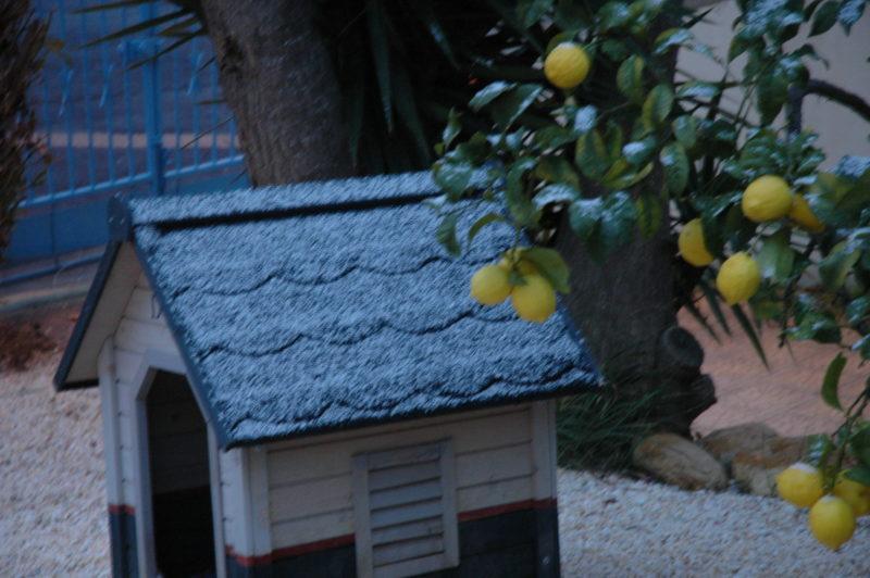 Maison d'hôtes sous la neige