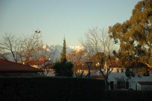Le Canigou vu en face de la maison