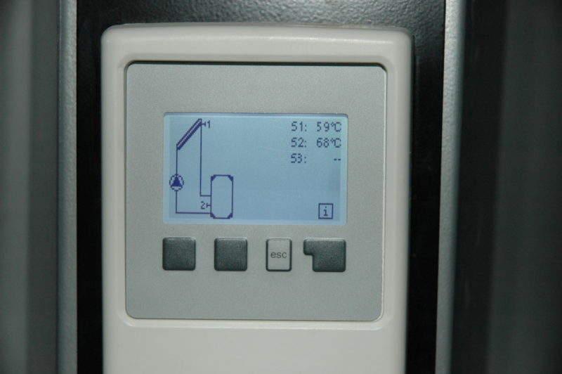 températures sur les panneaux et en bas du cumulus