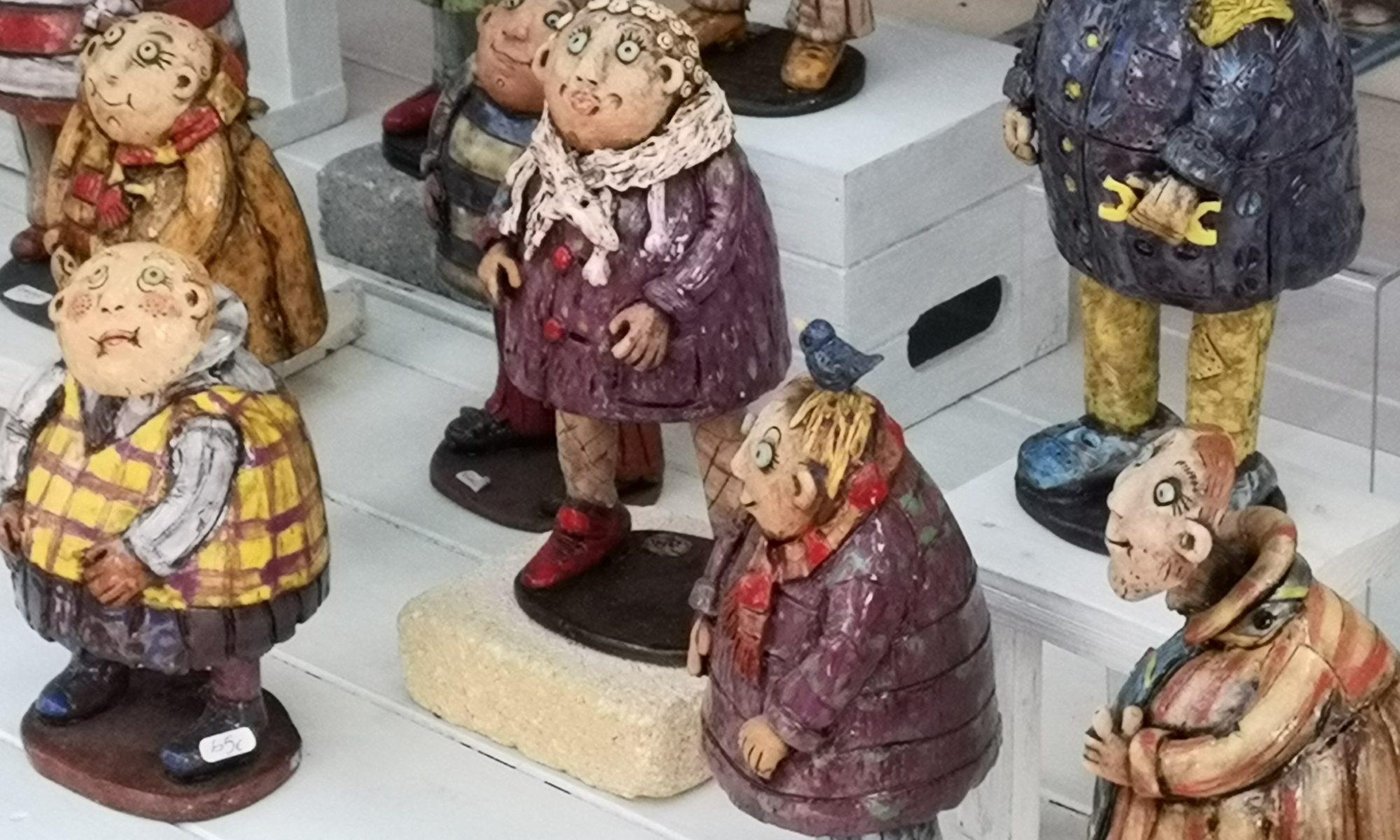 Vente de céramiques à Céret - août 2018