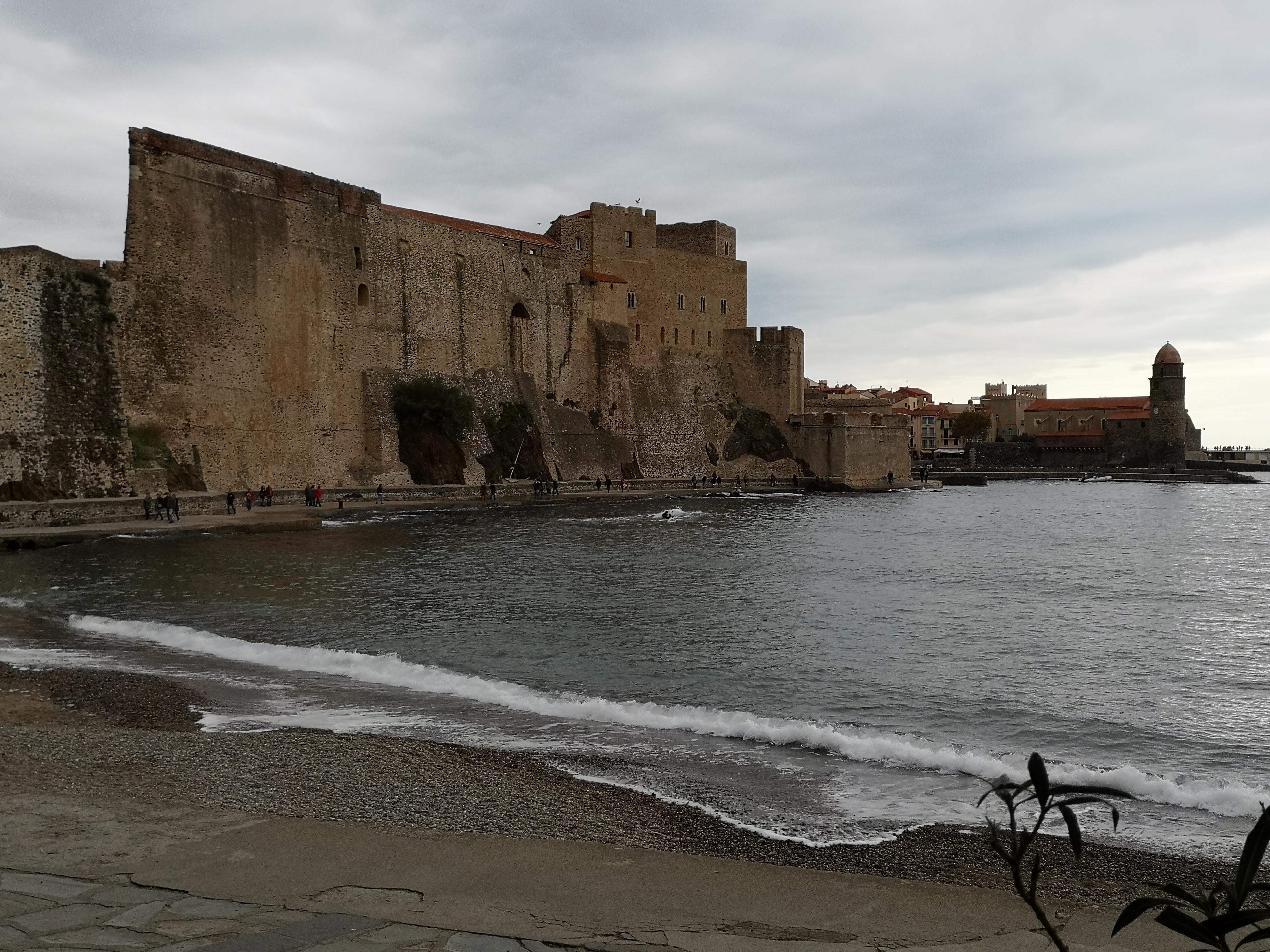 Collioure - l'arrière du château royal